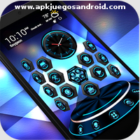 TechBlue Next Launcher Theme3D